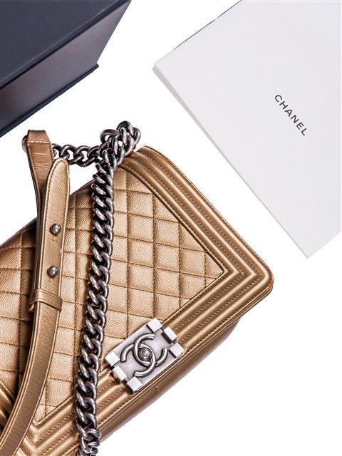 Chanel - Boy Sleek Lines Medium leather shoulder bag - Image 6 of 12