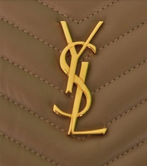 Yves Saint Laurent - Monogram Leather Clutch - Image 2 of 8