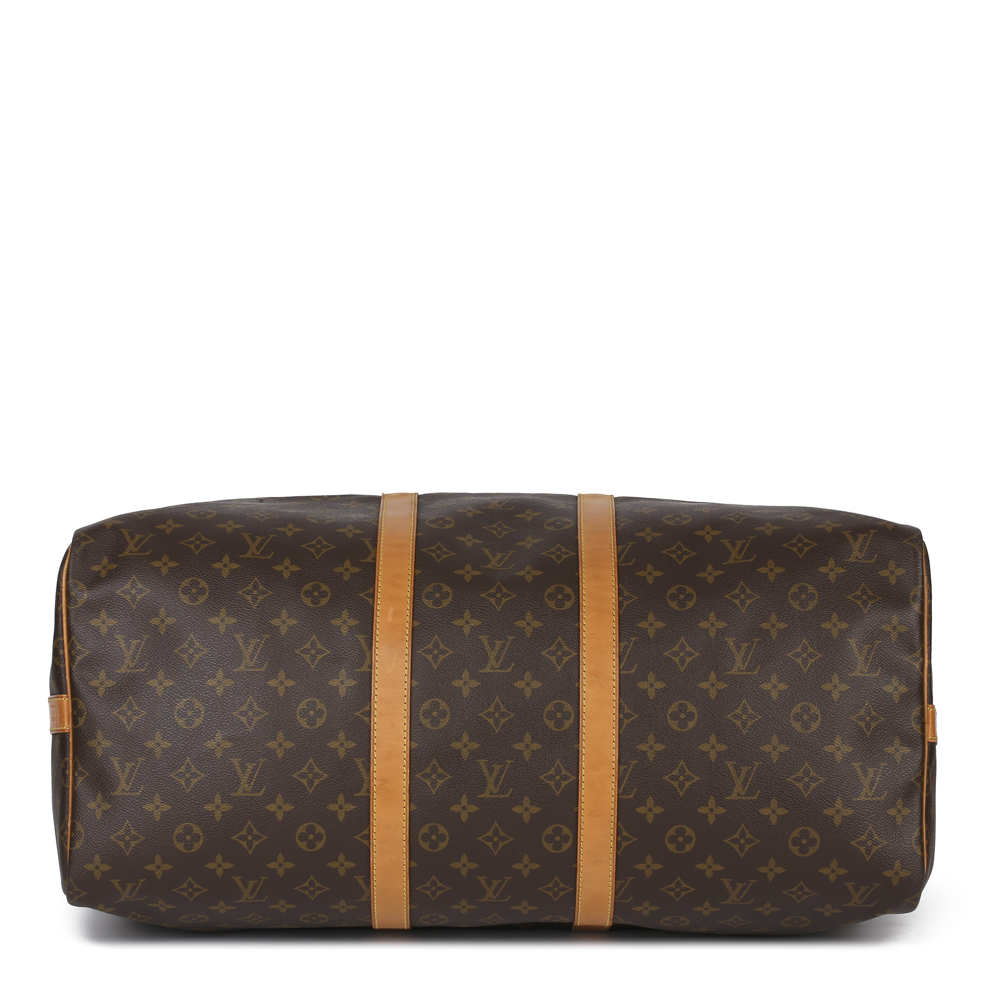 Louis Vuitton Brown Monogram Coated Canvas & Vachetta Leather Vintage Keepall 55 Bandoulire - Image 7 of 10