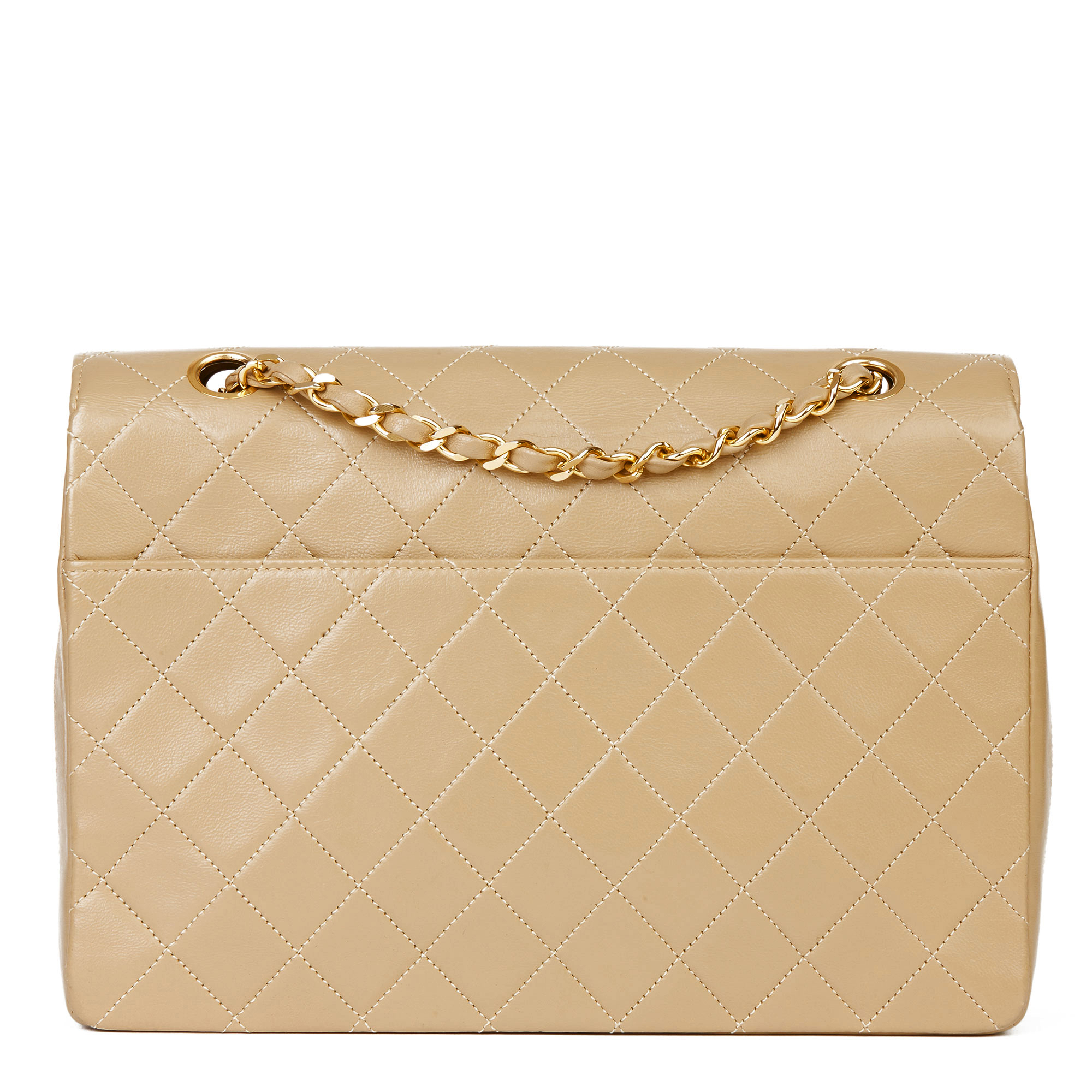 Chanel Dark Beige Quilted Lambskin Vintage Classic Single Flap Bag - Image 9 of 11