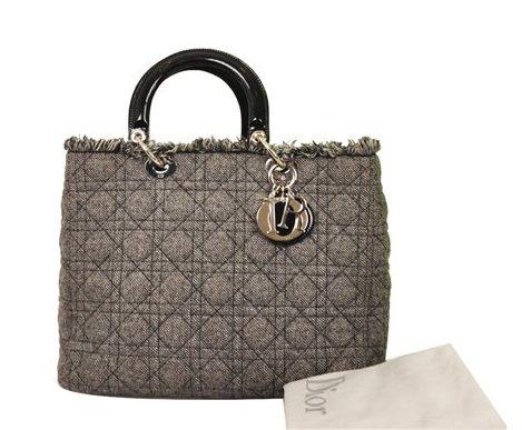 Christian Dior - Lady Dior Denim Large Hand Bag - Image 5 of 5