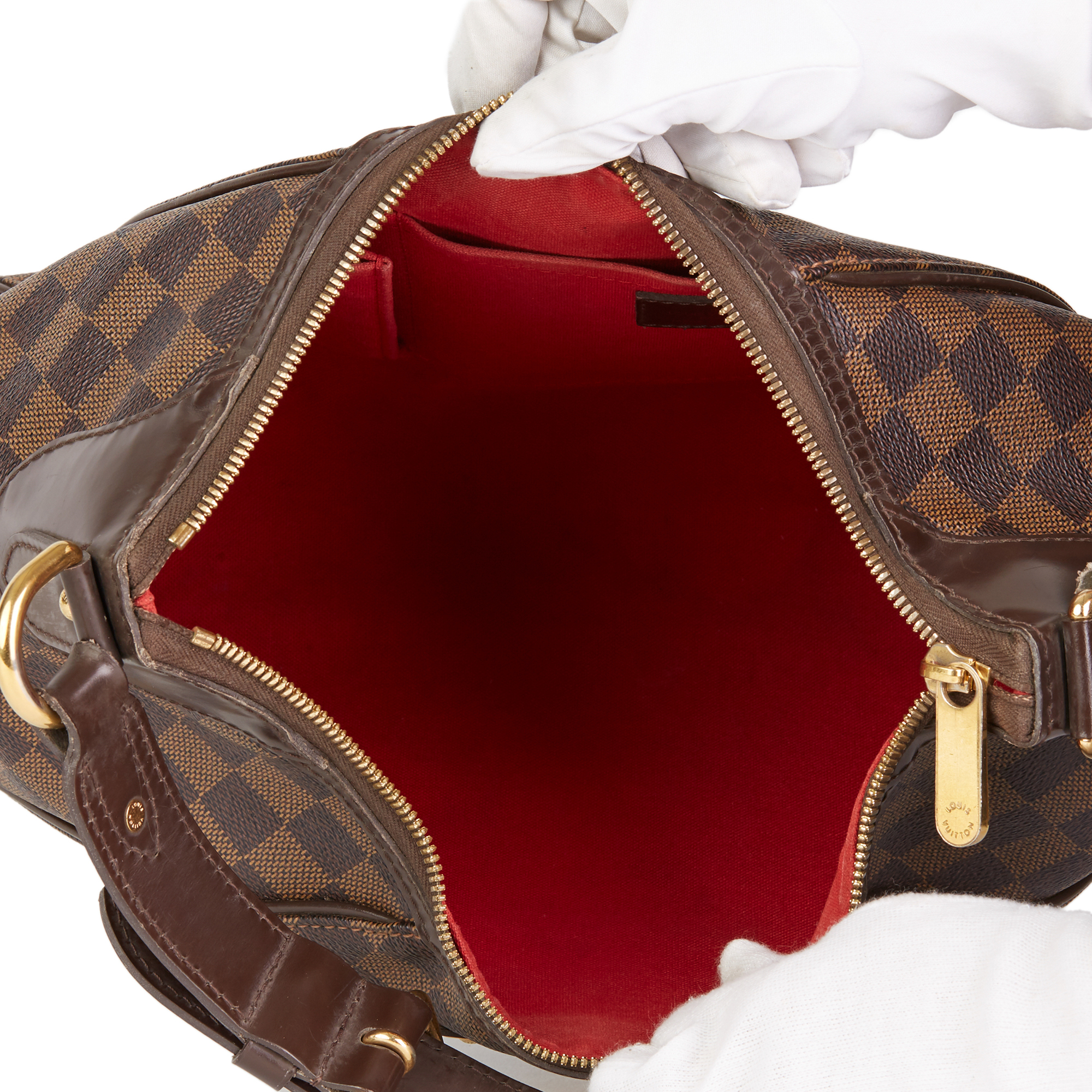 Louis Vuitton Brown Damier Ebene Monogram Coated Canvas Thames PM - Image 3 of 10