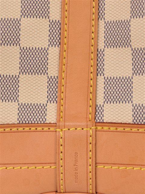 Louis Vuitton - Damier Azur Noe Bucket Leather Shoulder Bag - Image 5 of 7