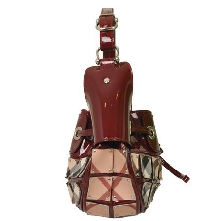 Burberry - Nova Check Warrior Rugan Hobo Shoulder Bag - Image 2 of 7