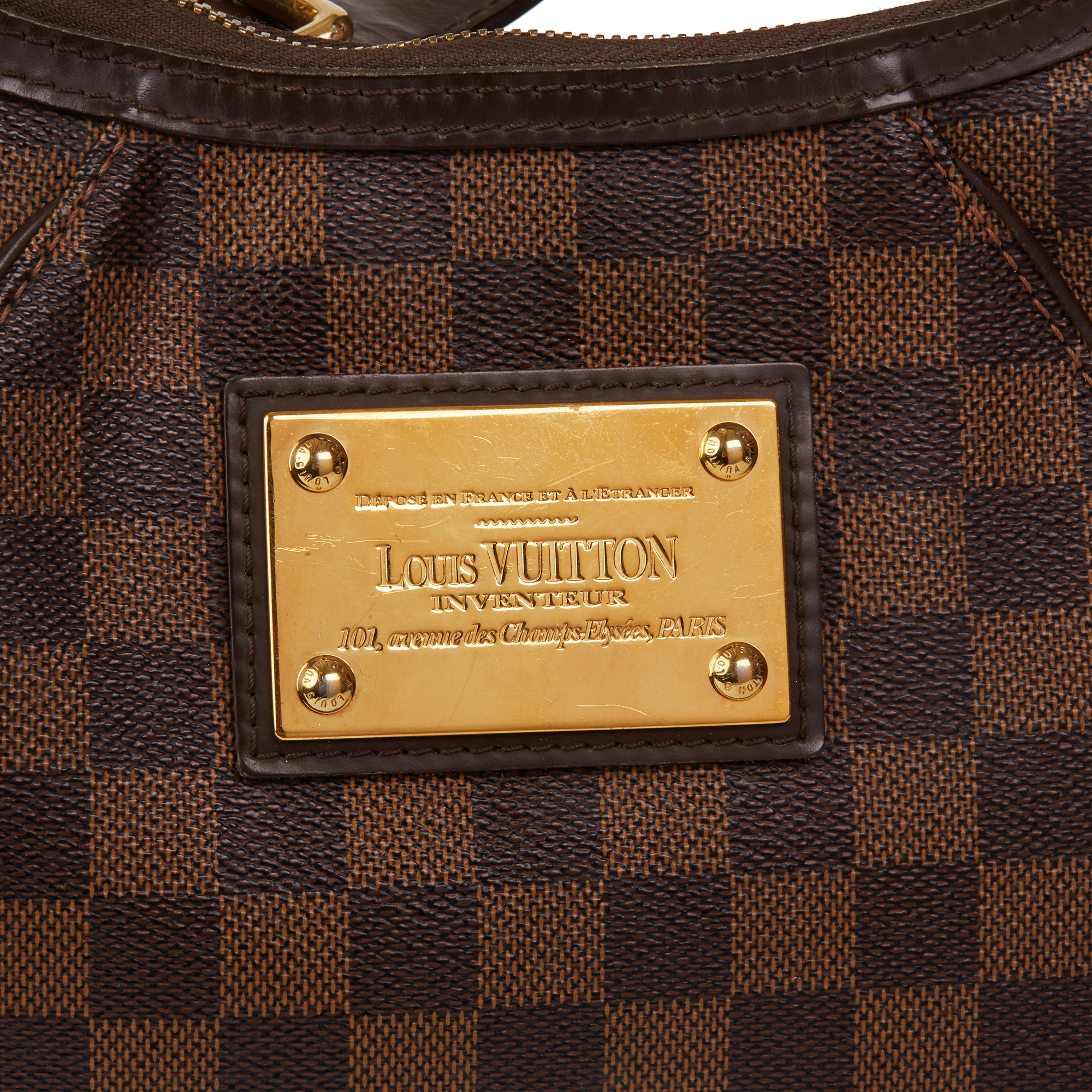 Louis Vuitton Brown Damier Ebene Monogram Coated Canvas Thames PM - Image 6 of 10