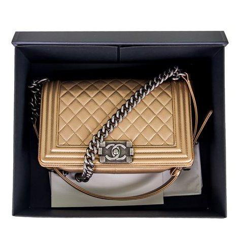 Chanel - Boy Sleek Lines Medium leather shoulder bag - Image 11 of 12