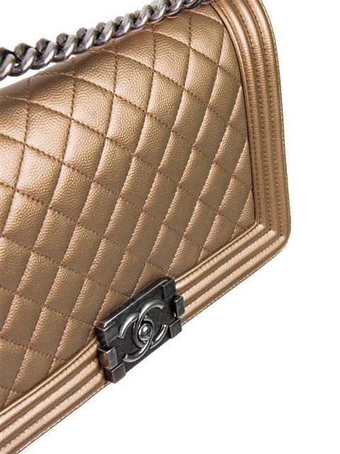 Chanel - Boy Sleek Lines Medium leather shoulder bag - Image 7 of 12