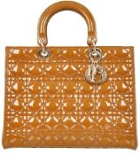 Christian Dior - Lady Dior Large Rugan Leather Hand Bag