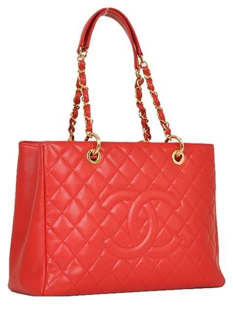 Chanel - Leather Grand Shopper Shoulder Bag