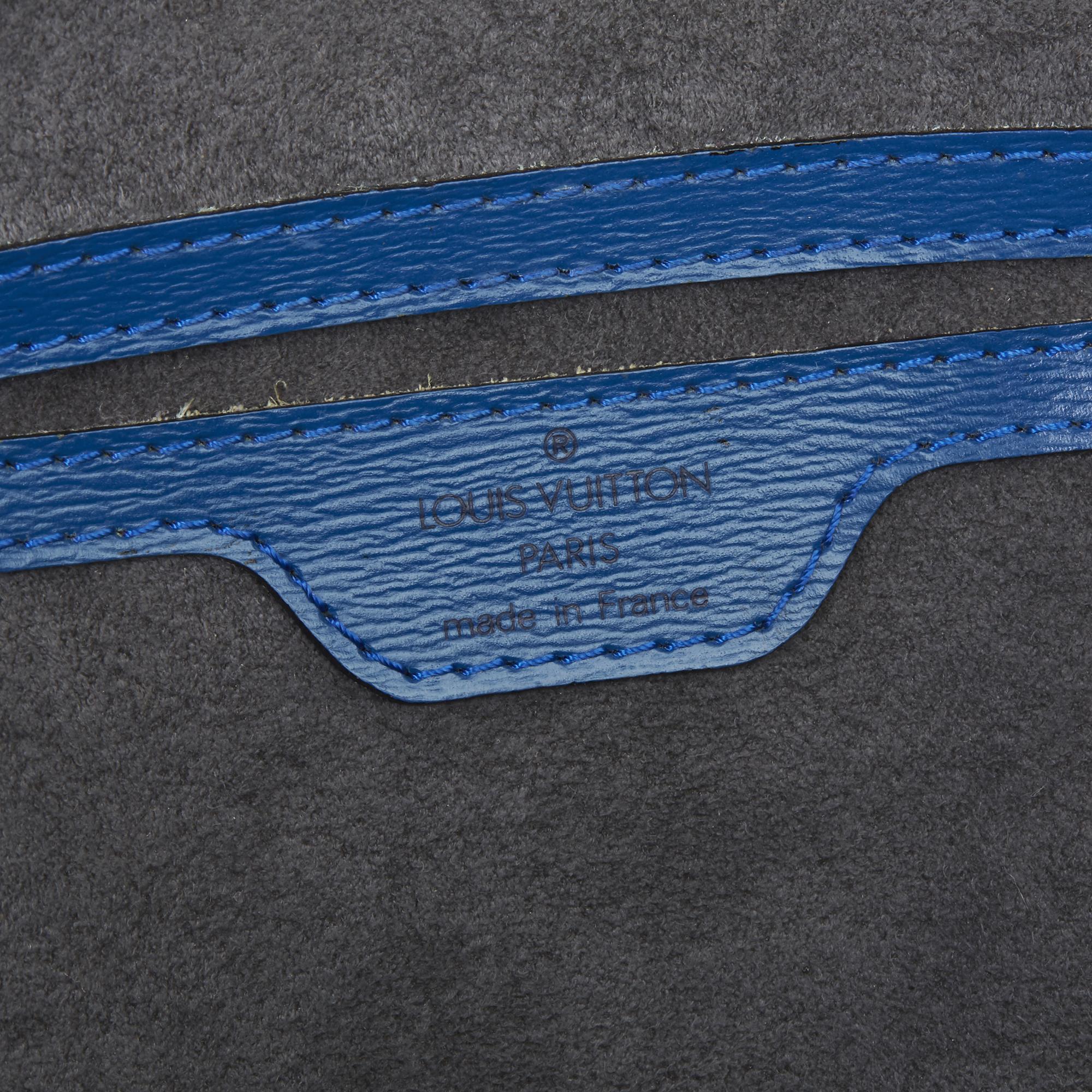 Louis Vuitton Blue Epi Leather Vintage Saint Jacques PM - Image 5 of 11