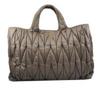 Miu Miu - Mattelasse Leather Large Shoulder Bag