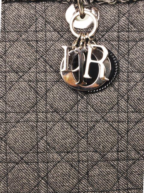 Christian Dior - Lady Dior Denim Large Hand Bag - Image 4 of 5