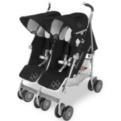 Maclaren Pushchair Twin Techno Black Built For Comfort/Performance for 2 RRP £299.99