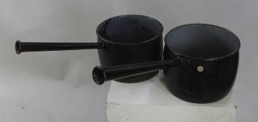 Pair of Antique Cast Saucepans