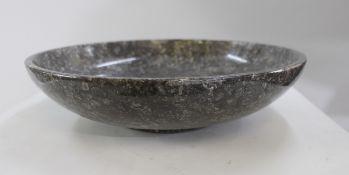 Black Marble Italian 20th c. Centrepiece Bowl