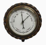 Oak Circular Aneroid Wall Barometer c.1930