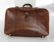 Allied Dunbar Tan Leather Luggage Case
