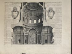C19th Louvre copy Of a C17th engraving of an interior