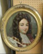C19th portrait on glass