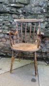 Early C20th stick back armchair
