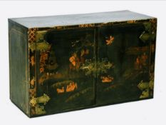 An 18th / 19th century chinoiserie two-door cupboard