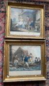 Pair of engravings after George morland in original frames