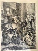 C19th Louvre facsimile engraving of a C17th engraving Alexander babilonem triumphant
