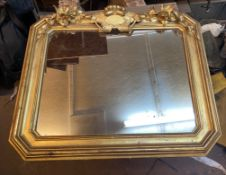 C19th giltwood wall mirror