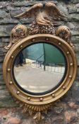 Large C19th convex mirror