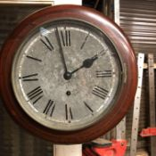 C19th Circular kitchen clock