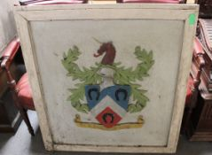 Wooden framed Armorial Crest