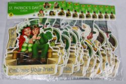 St Patricks Day Cut Outs Characters Job Lot