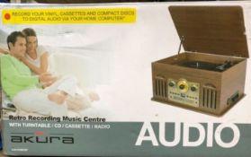 Brand new in box Akura-Retro-Music-Centre-with-Turntable-CD-
