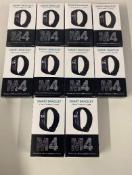 10 Individually Boxed M4 Smart Bracelets - Brand New