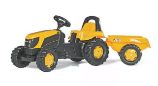 Rolly Toys Jcb Tractor And Trailer Brand New