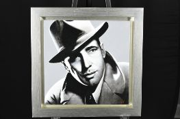 Original Oil Painting by Terence Vickress - Humphrey Bogart