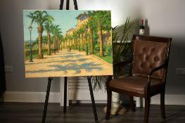 "Original Painting by John Mackie ""A Walk into Parma"""