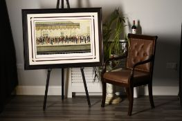 """Superbly Framed L.S.. Lowry Limited Edition """"The Railway Platform"""""""