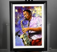 Original Jazz Oil on Canvas by the English Artist Rawlings