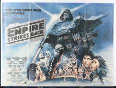 Original Vintage 1980 Star Wars: The Empire Strikes Back Cinema Release Poster