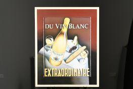 Du Vin Blanc. Boxed Framed Mixed Media Art
