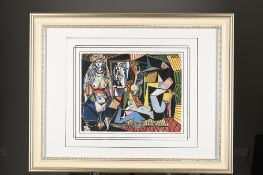 """Rare Limited Edition Pablo Picasso on Silk. """"Les Femmes Alger"""". 1 of only 85 ever Published"""
