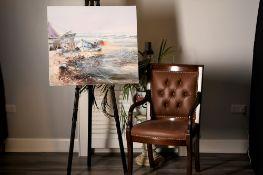 """Original oil on canvas by Casali """"Barche"""""""