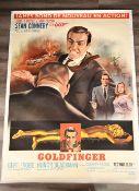 """Original Vintage James Bond """"Goldfinger"""" Cinema Poster (1965) Superb Condition"""
