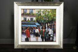 Original Parisian Pastel Painting by Tony Rome