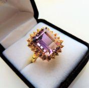 7.25 carat Amethyst & Citrine Ring
