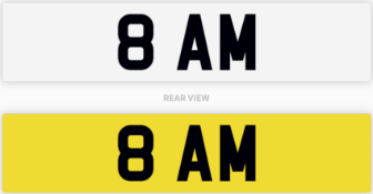 Private Number Plate 8 AM