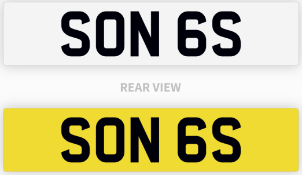 Private Number Plate SON 6S