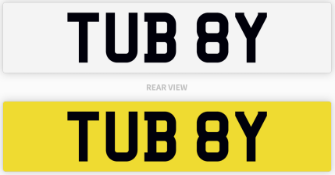 TUB 8Y Cherished Private Number Plate