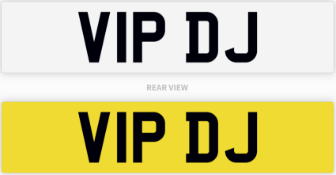 Private Number Plate V1P DJ
